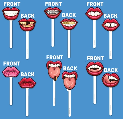 Lips on a Stick - 6pcs