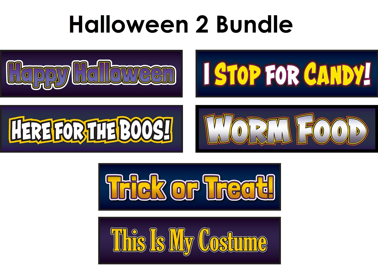 Halloween 2 - Sign Props set of 3