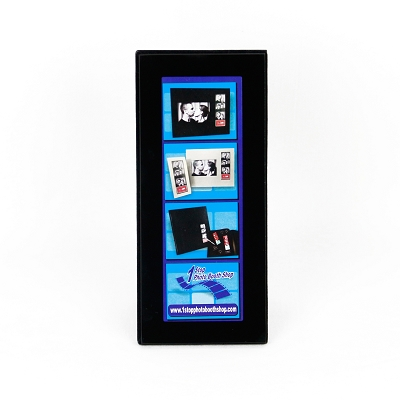 Black Glass 2x6 Photo Strip Frame