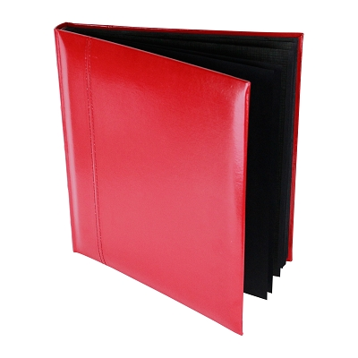 Glorious Leather 50pg Drymount Photo Album - RED Leather