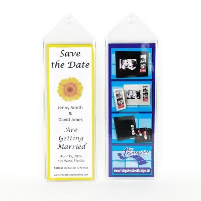 Vinyl Bookmark 2x6 photo strip frame