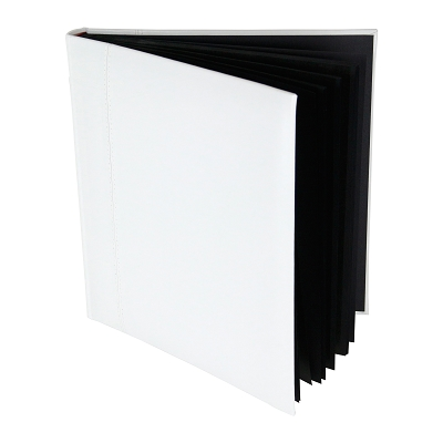 Glorious Leather 50pg Drymount Photo Album - WHITE Leather