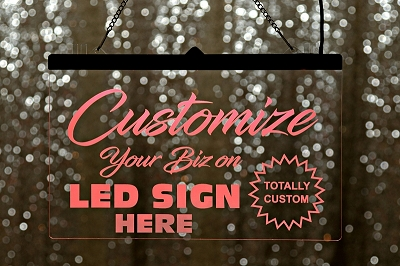 Custom LED Table Sign - Large
