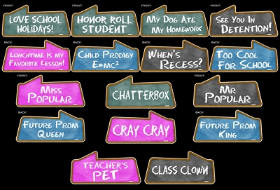 School Theme Prop Signs - 8pcs
