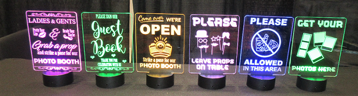 Additional LED Table Signs - signs only